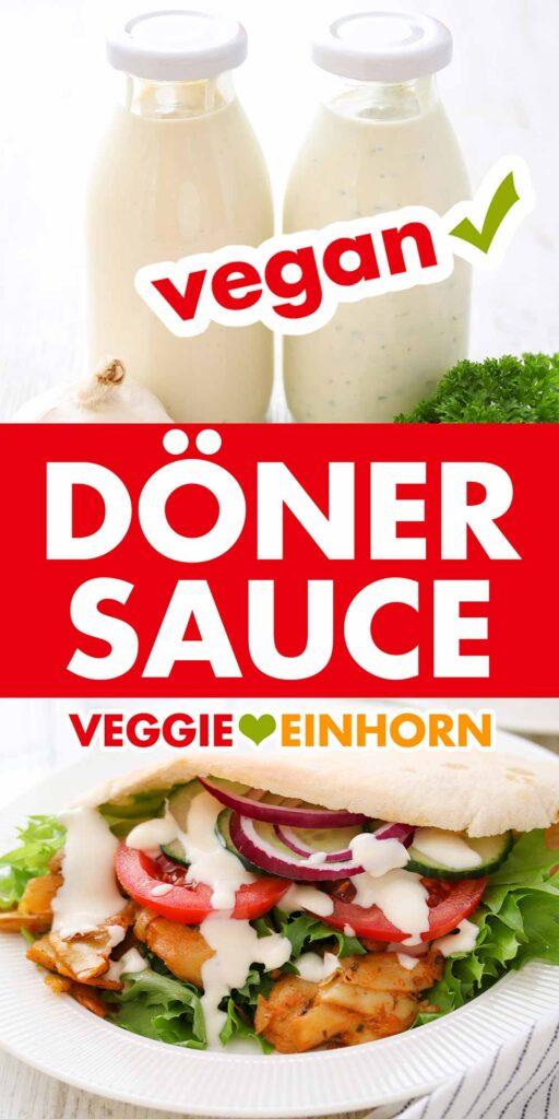 Vegane Dönersoße mit Joghurt und Knoblauch