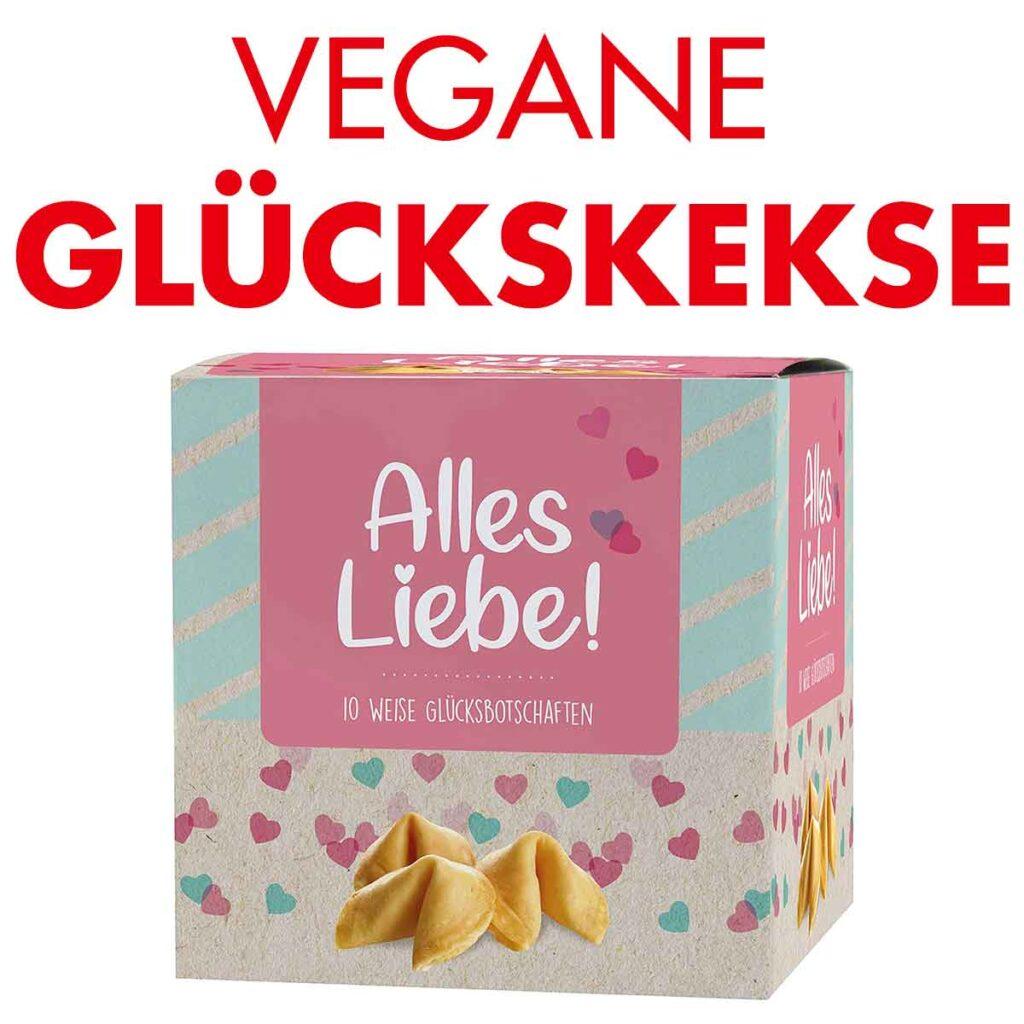 Eine Packung vegane Glückskekse