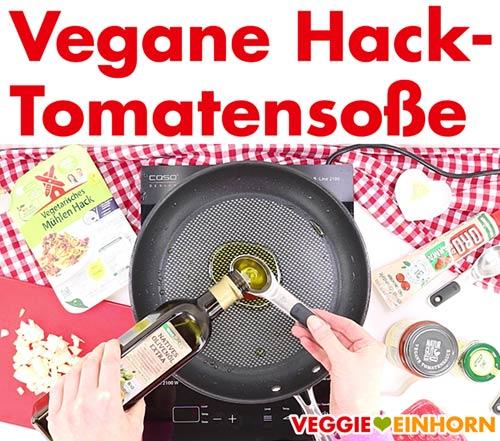 Zubereitung der veganen Hack Soße