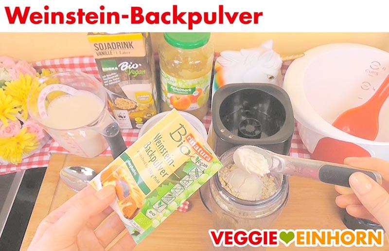 Vegane Waffeln mit Haferflocken und Apfelmus | Weinstein-Backpulver
