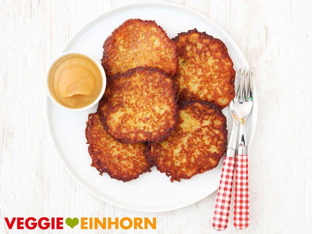 Vegane Kartoffelpuffer ohne Ei