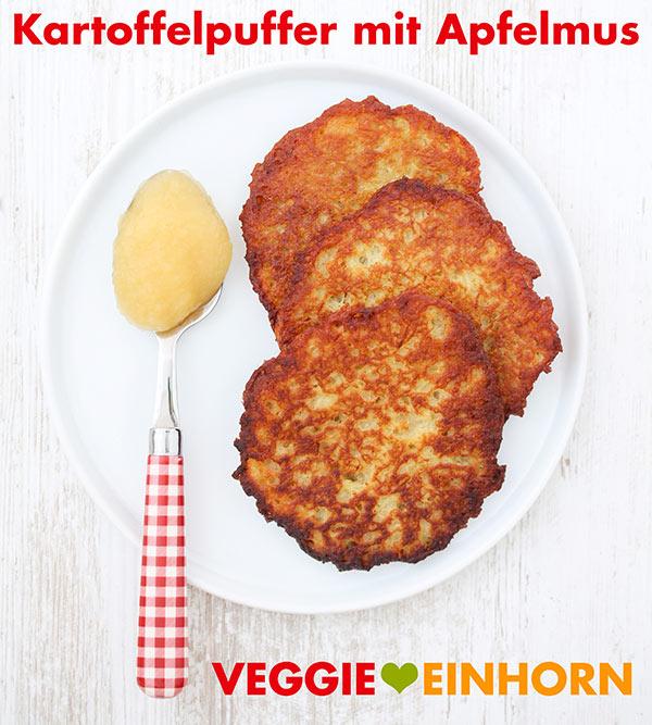 Vegane Kartoffelpuffer mit Apfelmus