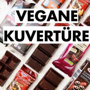 Packungen mit veganer Kuvertüre aus dem Supermarkt