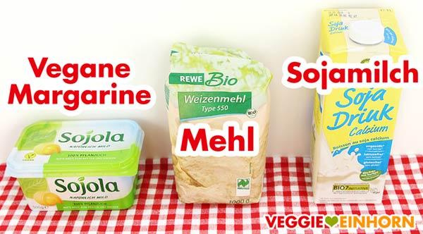 Vegane Margarine, Mehl, Sojamilch