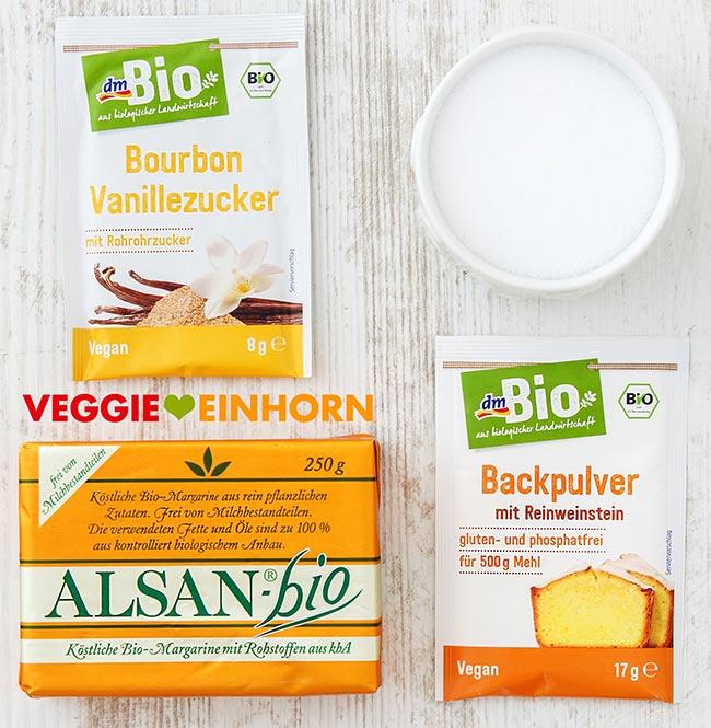 Vegane Margarine, Vanillezucker, Weinsteinbackpulver von dm