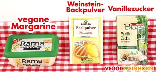 Vegane Margarine, Weinsteinbackpulver, Vanillezucker
