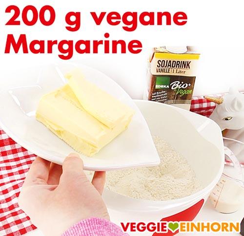 Vegane Margarine für Nussecken Teig