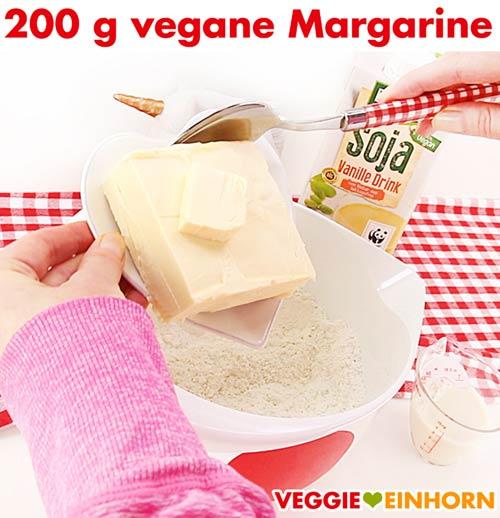 Vegane Margarine für Spitzbuben-Plätzchenteig