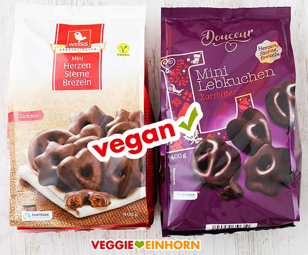 Vegane Mini Lebkuchen (Herzen, Sterne, Brezeln)
