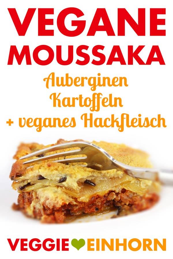 Vegane Moussaka mit Hefeschmelz überbacken