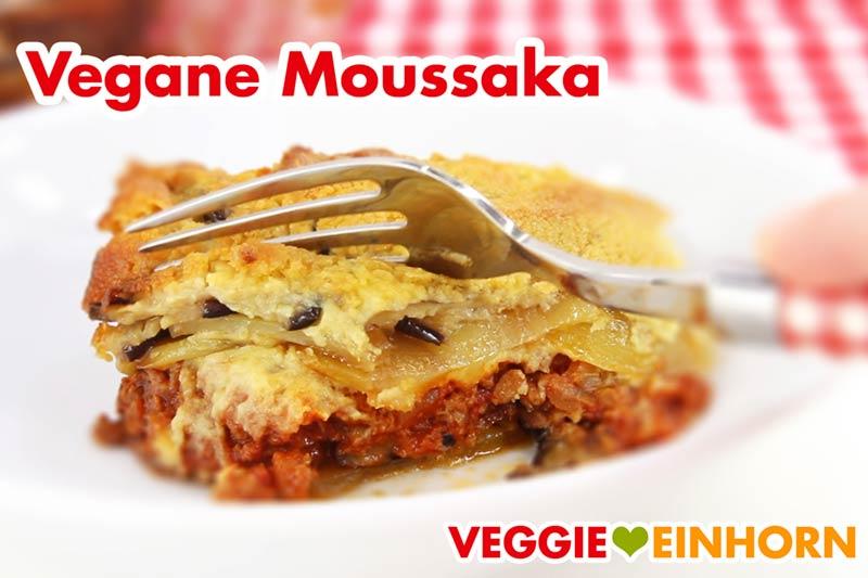 Vegane Moussaka mit Auberginen