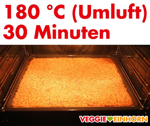 Vegane Nussecken im Backofen backen