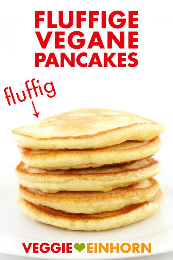 Fluffige Vegane Pancakes Beste Vegane Pfannkuchen Rezept Mit Video