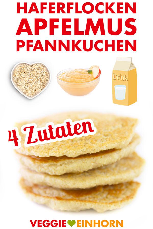 Vegane Pancakes Mit Apfelmus Und Haferflocken Einfach Und Gesund