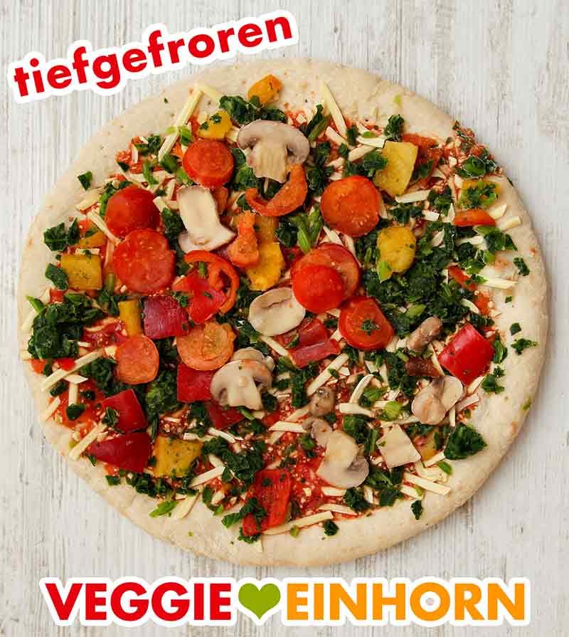 Eine tiefgefrorene Pizza Verdura von Veganz