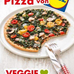 Vegane Pizza von Lidl auf einem Teller