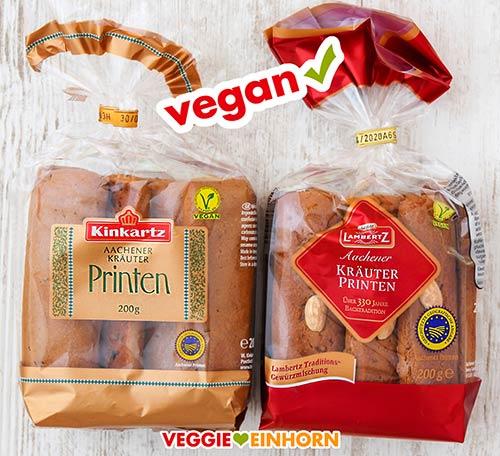 Zwei Packungen vegane Printen