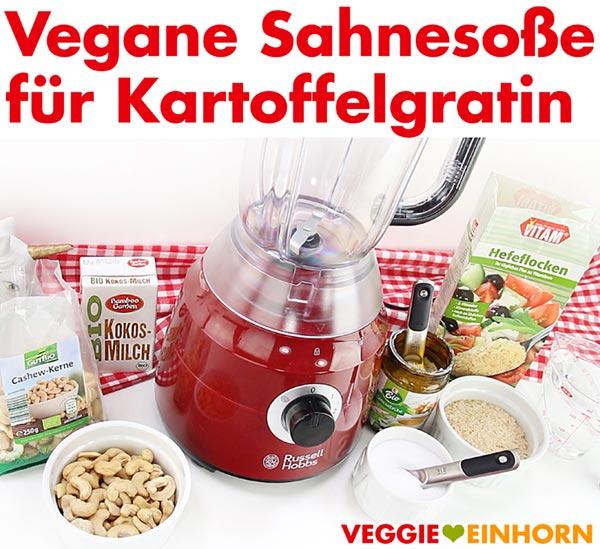 Vegane Sahnesoße für Kartoffelgratin