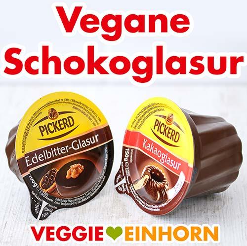 Zwei Packungen mit veganer Schokoglasur