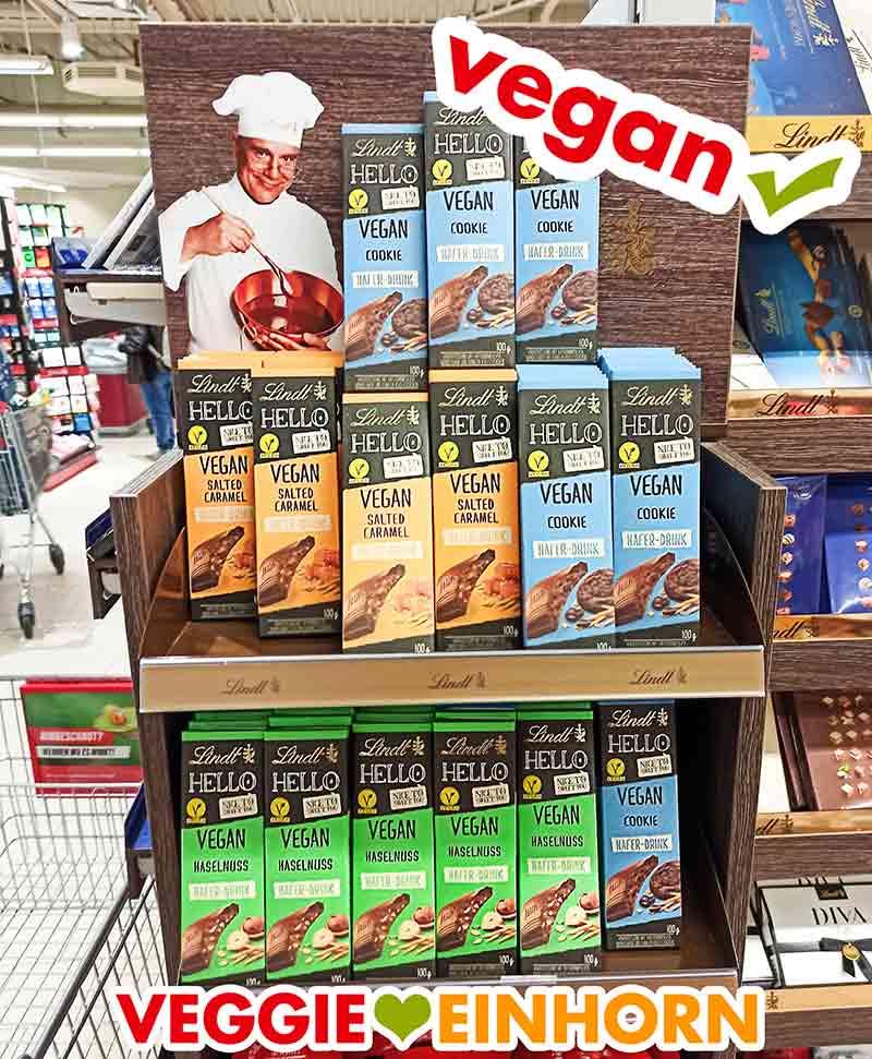 Lindt Hello Vegane Schokolade im Supermarkt