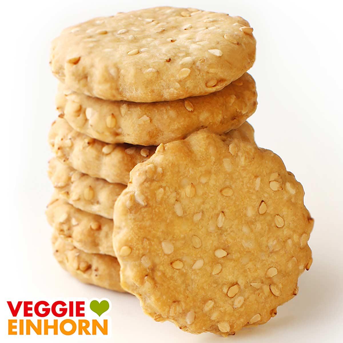 Vegane Sesam Cracker