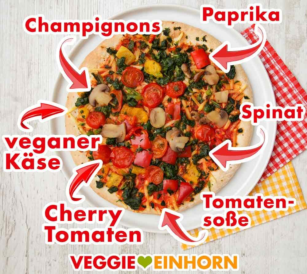 Vegane Pizza Verdura von Veganz auf einem Teller