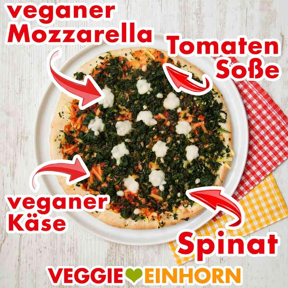 Fertig gebackene Pizza Spinaci von Veganz