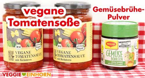 Vegane Tomatensoße mit Kräutern