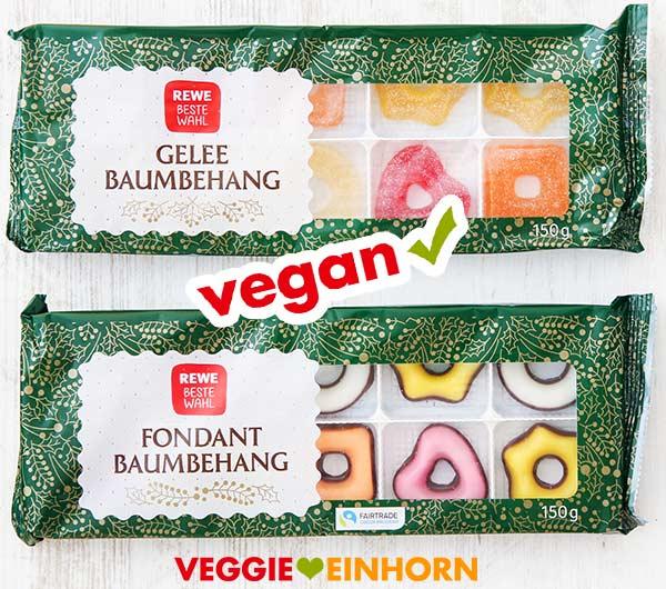 Veganer Gelee Baumbehang und Fondant Baumbehang von Rewe Beste Wahl