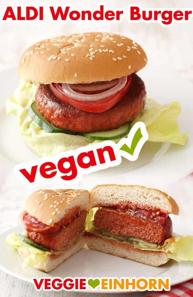 Vegane Wonder Patties von ALDI im Burger