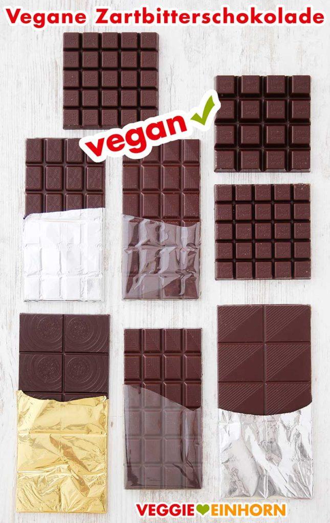 Acht Tafeln vegane Zartbitterschokolade
