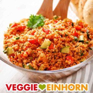 Veganer Bulgursalat Rezept | Einfach und schnell | Gesund und vegetarisch