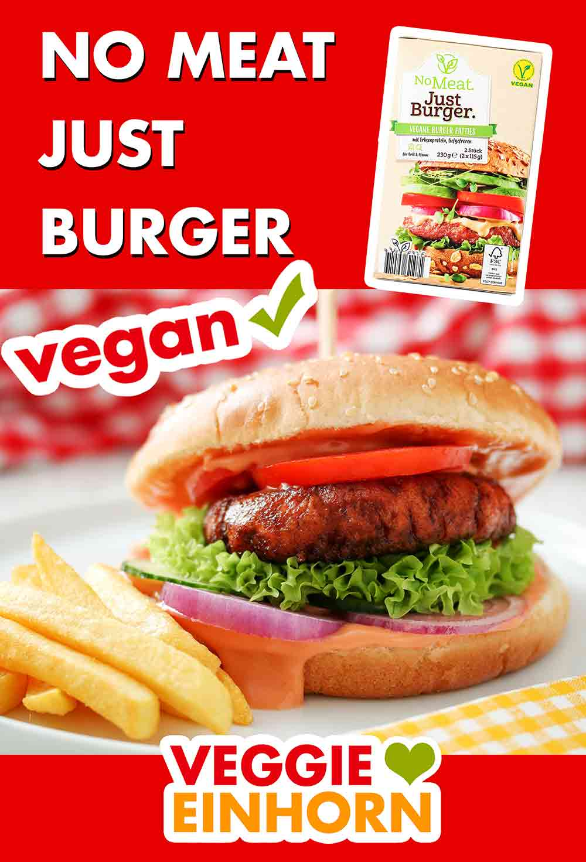 Fertiger Burger mit No Meat Just Burger Patty