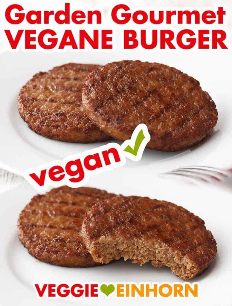 Gebratene vegane Burger Patties von Garden Gourmet