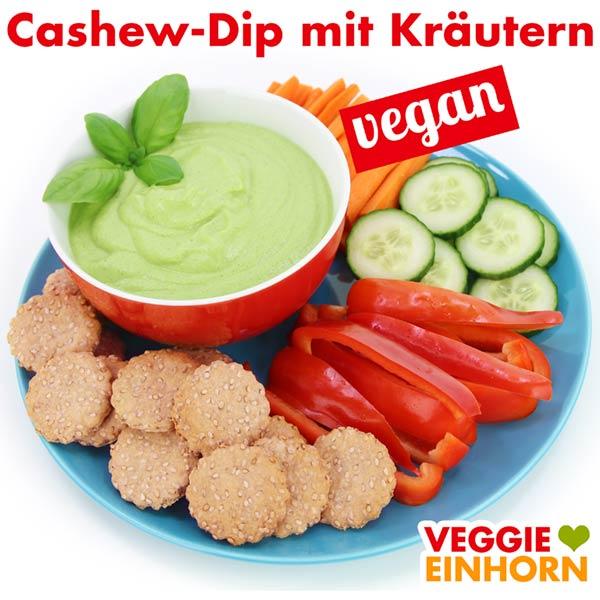 Veganer Cashew Dip mit Kräutern Rezept