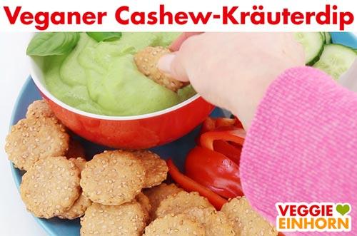 Veganer Cashew Kräuterdip