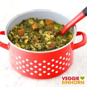 Veganer Grünkohleintopf mit Räuchertofu