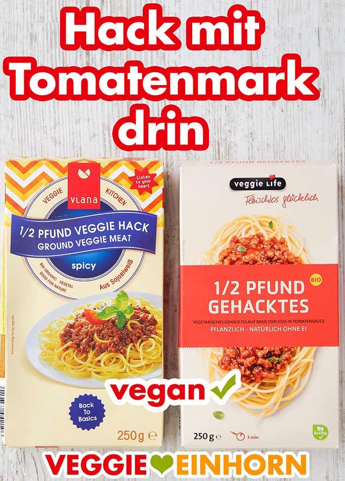 Zwei Packungen vegatarisches Hackfleisch von Tofutown