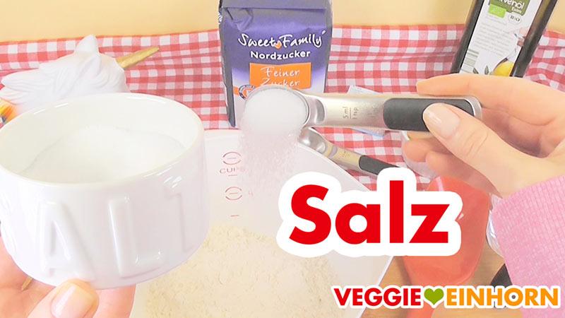 Salz für veganen Hefeteig