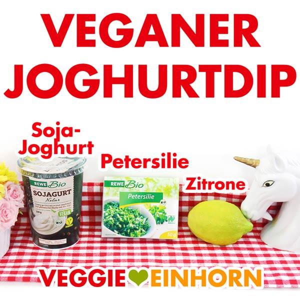 Veganer Joghurtdip Rezept | Einfach und lecker | Sojajoghurt Petersilie Zitronensaft