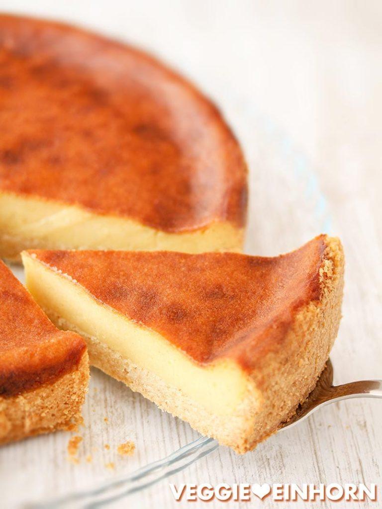 Veganer Käsekuchen mit Alpro Skyr