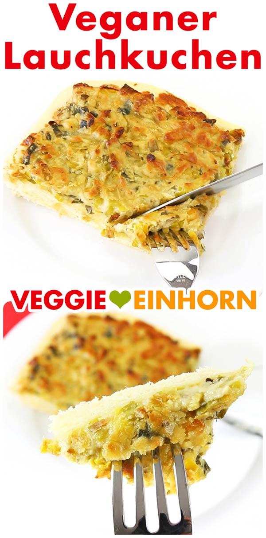 Veganer Lauchkuchen vom Blech | Rezept mit Cashews und Lauch | Hefeteig vegan