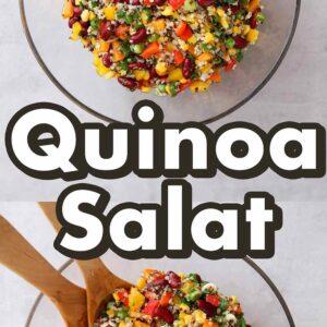 Gesunder Quinoa Salat in einer Schüssel