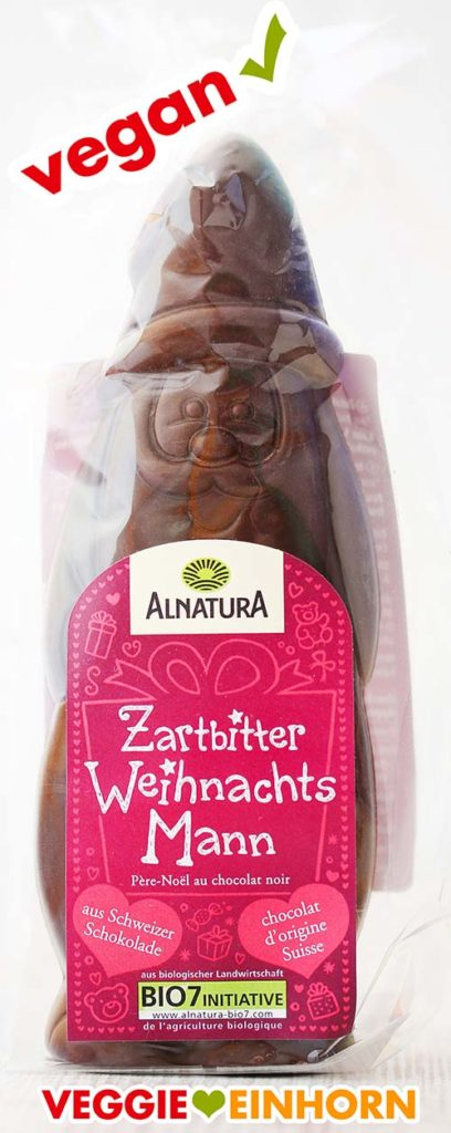 Veganer Schoko Weihnachtsmann von Alnatura