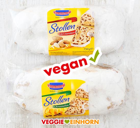 Zwei vegane Stollen von Kuchenmeister