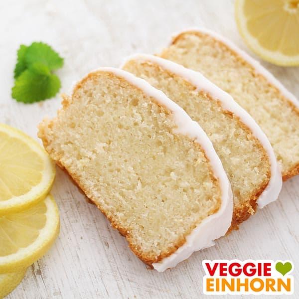 Saftiger veganer Zitronenkuchen mit Glasur