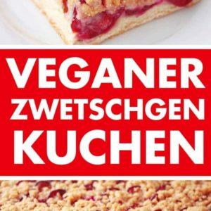 Rezept für veganen Zwetschgenkuchen mit Hefe