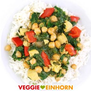 Einfaches veganes Curry | schnell und gesund vegan kochen | mit Kichererbsen und Spinat