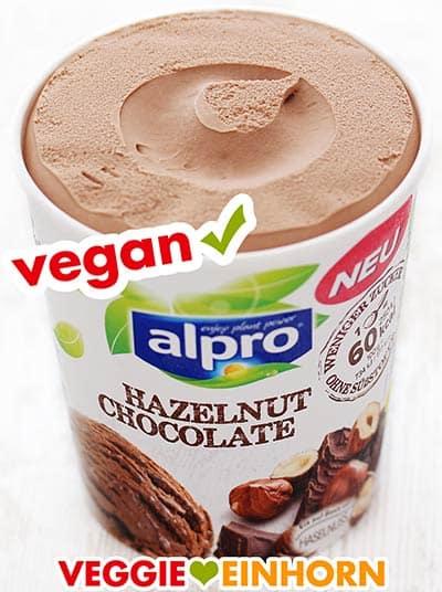 Veganes Schokoladeneis von Alpro (Hazelnut Chocolate)
