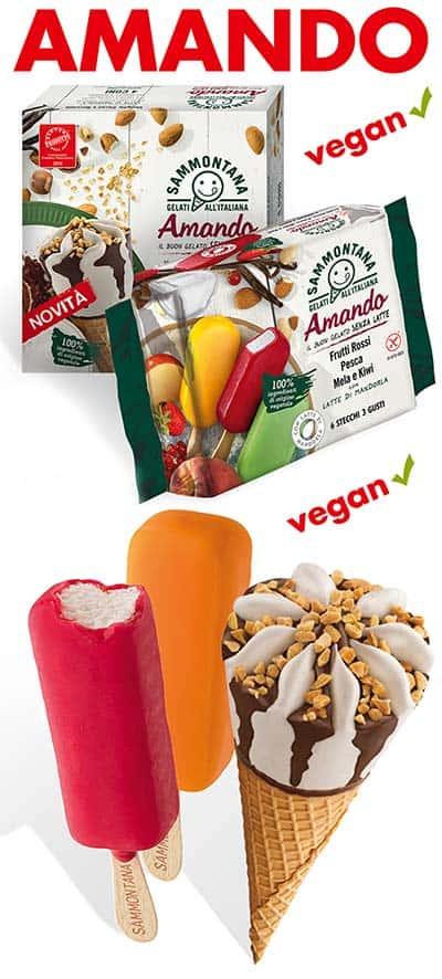 Veganes Eis am Stiel und Waffeleis von Amando